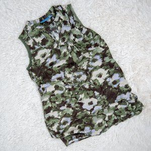Simply Vera Camo Floral Pocket Shift Dress Sz PL